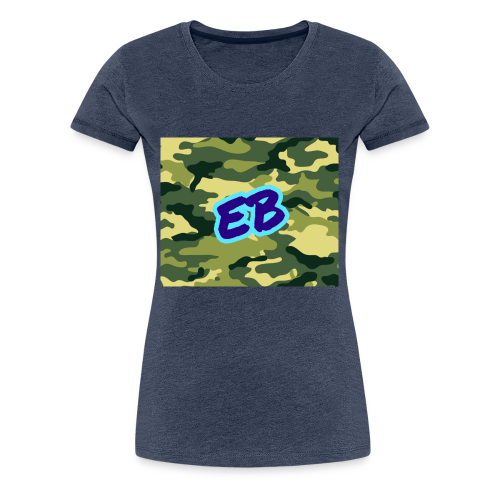 Ellibradyoffical green camo - Women's Premium T-Shirt