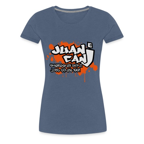 Juan can logo for spreadshirt Orange - Women's Premium T-Shirt