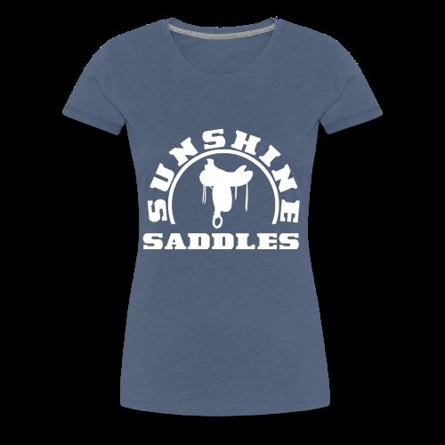 LogoSunshineSaddlesWeissTransparent - Frauen Premium T-Shirt