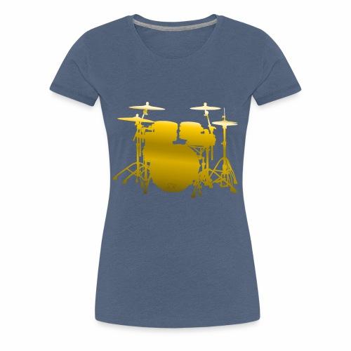 Vive la Musique - Drums, by SBDesigns - T-shirt Premium Femme