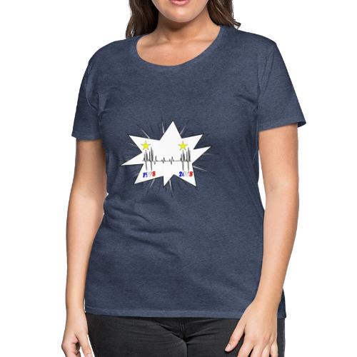 coupe du monde 2018 électrocardiogramme les bleus - T-shirt Premium Femme