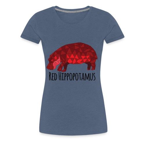 Red Hippopotamus - T-shirt Premium Femme