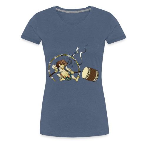 RAIIN mit Taiko und Bachi - Frauen Premium T-Shirt