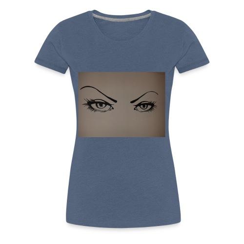 Augen - Frauen Premium T-Shirt