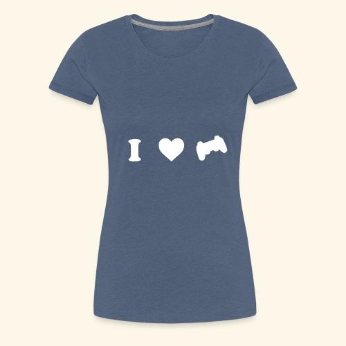 I love videogames - Camiseta premium mujer