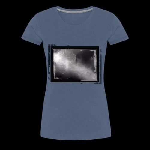 Schwarze Kunst im Rahmen - Frauen Premium T-Shirt