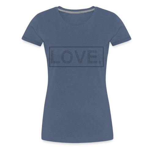 Love letters transparent - Frauen Premium T-Shirt