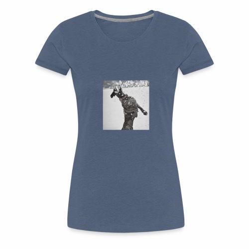 Boxer Hund Spaß im Schnee - Frauen Premium T-Shirt