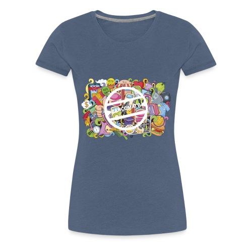 bancomatti doodle marchio bianco - Maglietta Premium da donna