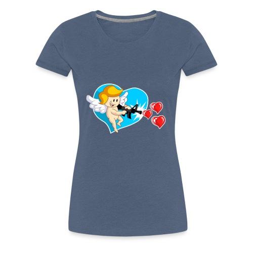 Kawaii Angel con ametralladora de corazón - Camiseta premium mujer