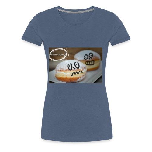 Gesichtskrapfen - Frauen Premium T-Shirt
