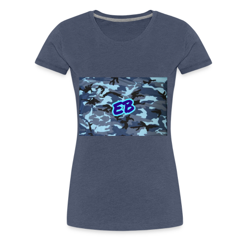 Ellibradyoffical blue camo - Women's Premium T-Shirt
