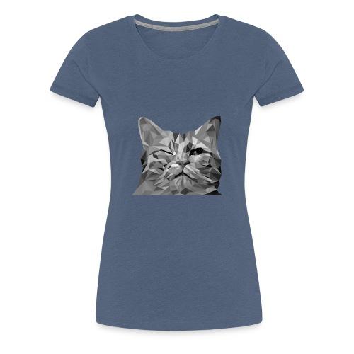 zwinkernde Katze - Frauen Premium T-Shirt