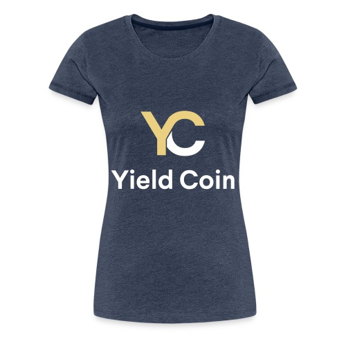 Gold and White Combination - Women's Premium T-Shirt