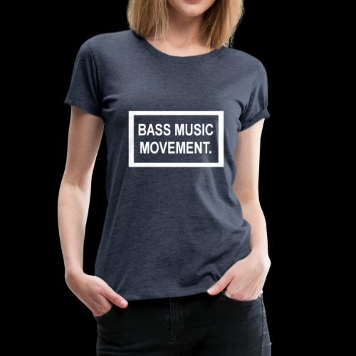 Bass Music Movement - White - Women's Premium T-Shirt