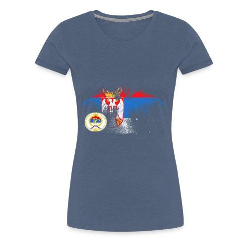 Srpska Zastava RS - Frauen Premium T-Shirt