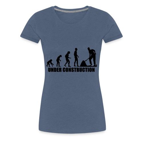 Evolution Baustelle von Affen zum Bauarbeiter - Frauen Premium T-Shirt