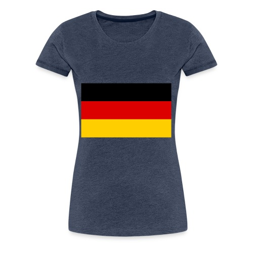 Deutsche flage - Frauen Premium T-Shirt