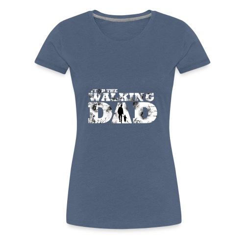 Walking Dad Vater Kind - Frauen Premium T-Shirt