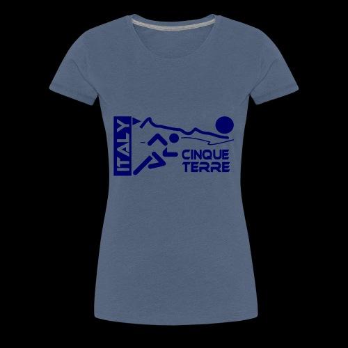 Italy Cinque Terre 2018 blue - Frauen Premium T-Shirt