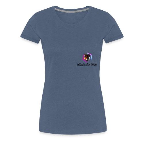 Logo Black And White Lato Destro - Maglietta Premium da donna