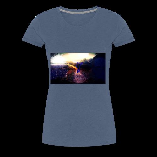 Hoodie Grau   Handyhülle samsung - Frauen Premium T-Shirt