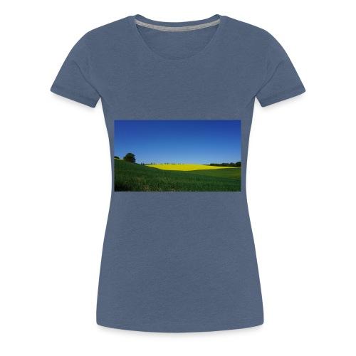 Rapsfeld - Frauen Premium T-Shirt