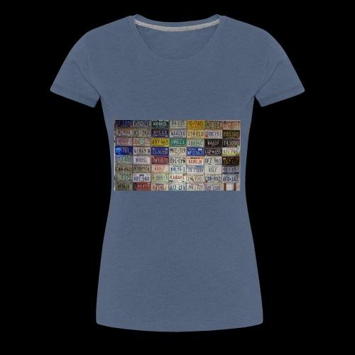 Amerikanische Autokennzeichen - Frauen Premium T-Shirt