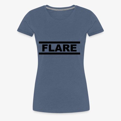 White T-Shirt - Black logo - FLARE - Vrouwen Premium T-shirt