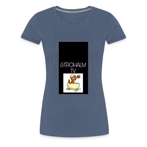 STROHALMTVLOGO - Frauen Premium T-Shirt
