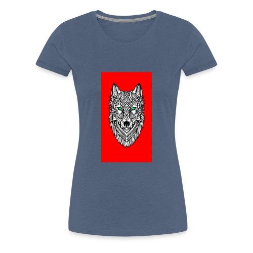 wolf2 - Frauen Premium T-Shirt