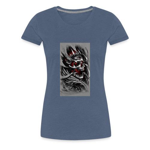 Skull of the King - Frauen Premium T-Shirt