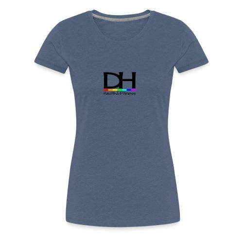 DH Health&Fitness Black Logo - Women's Premium T-Shirt