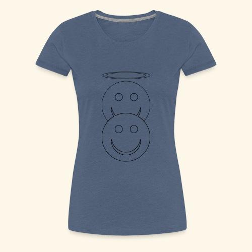Engelchen und Teufelchen Vektor Shirt - Frauen Premium T-Shirt
