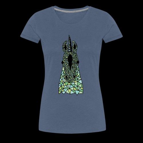 Einhorn Grün Pferdekopf - Frauen Premium T-Shirt