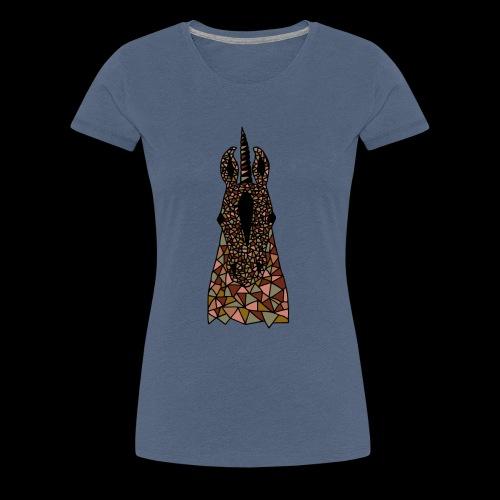 Einhorn Braun Pferdekopf - Frauen Premium T-Shirt