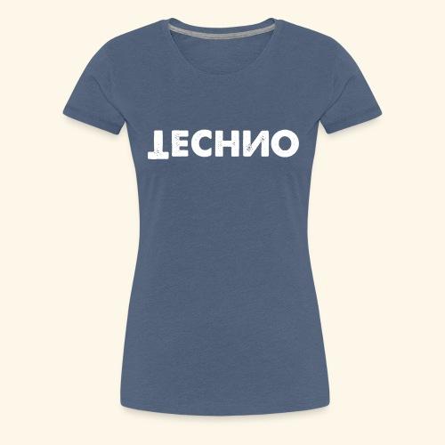 Techno Spiegelverkehrt Russisch Technomode Logo DJ - Frauen Premium T-Shirt