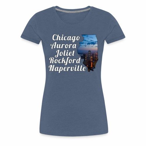 Illinois Design - Frauen Premium T-Shirt