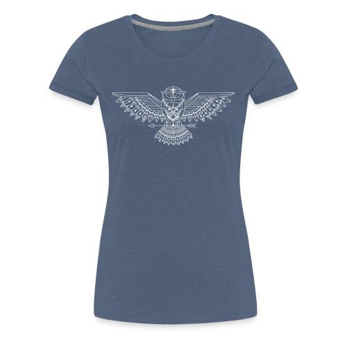 grafische uil wit - Vrouwen Premium T-shirt