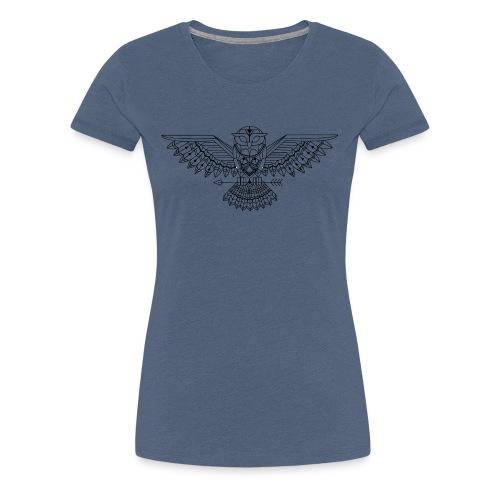 Grafische uil - Vrouwen Premium T-shirt