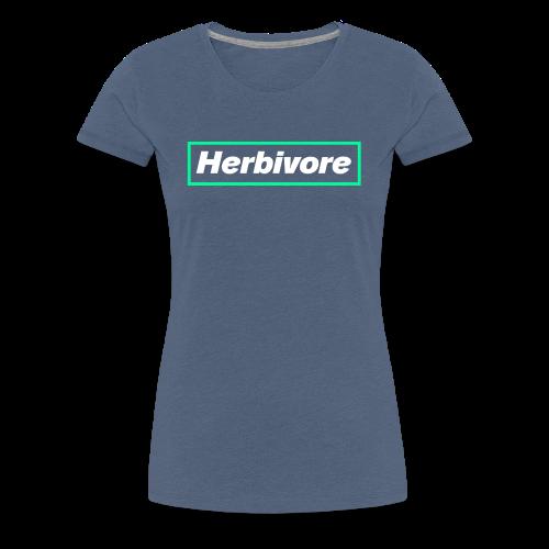 Herbivore Logo White - Maglietta Premium da donna