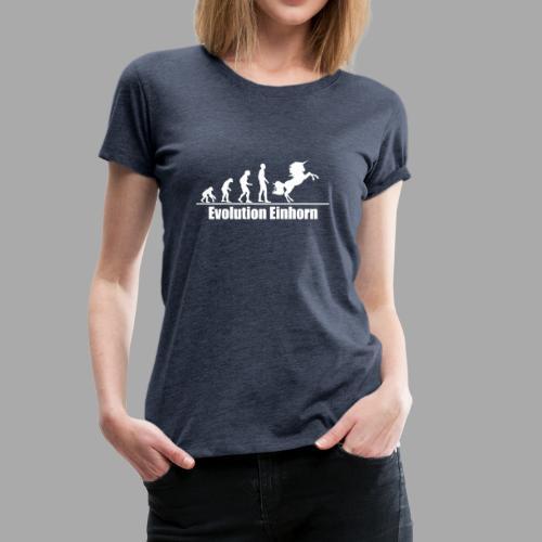 Evolution Einhorn - Frauen Premium T-Shirt