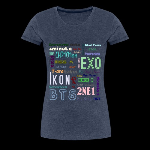 Kpop - Gruppen - Namen - Frauen Premium T-Shirt