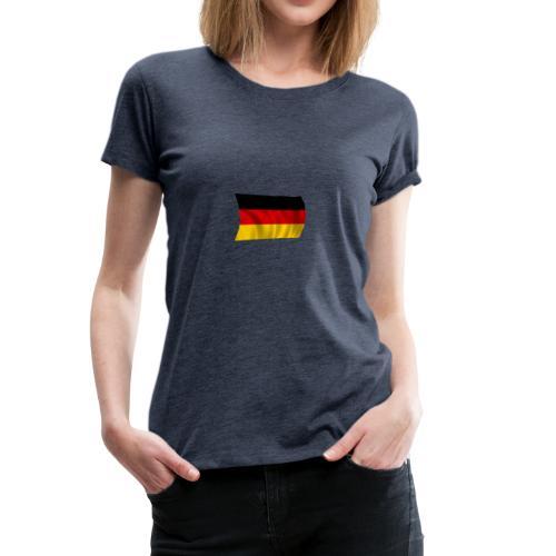 Deutsche Flagge T-Shirt - Frauen Premium T-Shirt