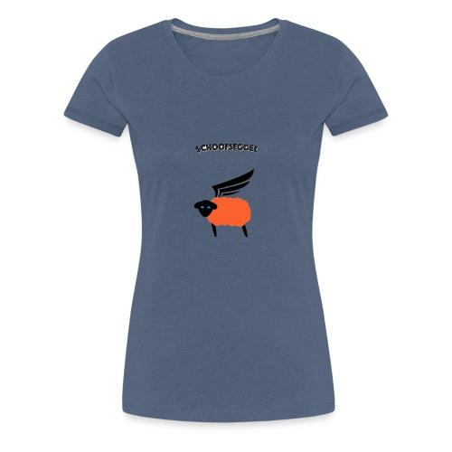 Schoofseggel (gross mit Schriftzug) - Frauen Premium T-Shirt