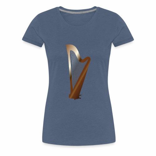 Vive la Musique - Harp, by SBDesigns - T-shirt Premium Femme