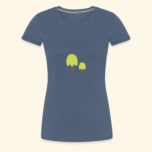 Thick Happy Tree Color - Frauen Premium T-Shirt