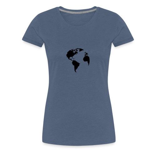 Welt World Erde - Frauen Premium T-Shirt