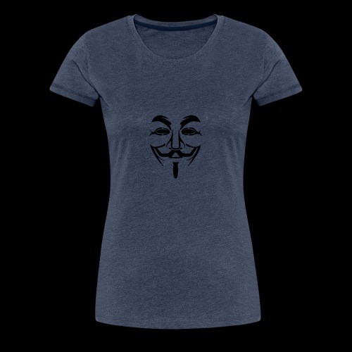 Anonymous Mask - T-shirt Premium Femme