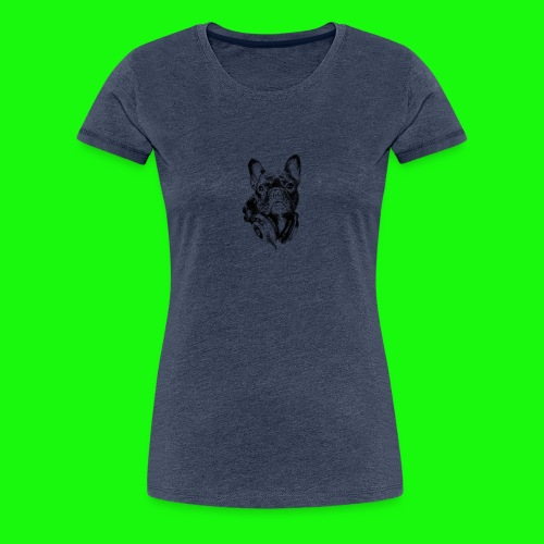 Small_Dog-_-_Bryst_- - Dame premium T-shirt